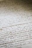 biznesowy ręcznie pisany listowy stary Fotografia Royalty Free