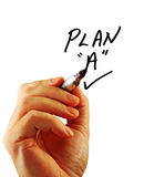 biznesowy ręki strategii writing Obrazy Stock