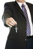 biznesowy ręki kluczy mężczyzna Obraz Royalty Free