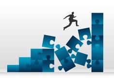 Biznesowy Ryzykowny skok ilustracja wektor