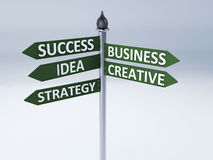 Biznesowy słów succes pojęcie Obrazy Royalty Free