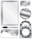 biznesowy setu srebra wektor ilustracja wektor