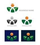 Biznesowy sieci ikony logo Fotografia Royalty Free