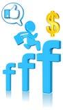 biznesowy socjalny Obrazy Stock