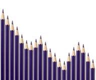 biznesowy spadku wykresu target1244_0_ Zdjęcie Stock