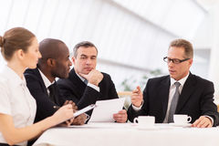 Biznesowy spotkanie. zdjęcie stock