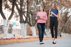 Biznesowy spotkanie dwa dziewczyny obrazy stock