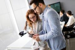 Biznesowy spotkanie i praca zespołowa ludźmi biznesu obraz stock