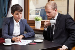 Biznesowy spotkanie w coffeehouse Fotografia Stock