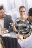 Biznesowy spotkanie w dobrym nastroju fotografia royalty free