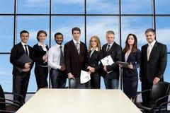 Biznesowy spotkanie w drapaczu chmur Zdjęcia Royalty Free