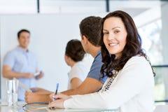 Biznesowy spotkanie z prezentacją obraz stock