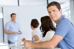 Biznesowy spotkanie z prezentacją fotografia stock