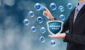 Biznesowy sprzedawcy agent z ochrony polisą Obrazy Stock
