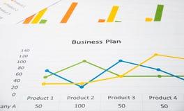 Biznesowy streszczenie lub planu biznesowego raport z mapami i wykresami w Biznesowym pojęciu Obrazy Royalty Free