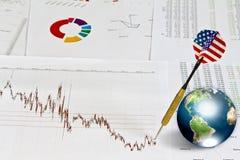biznesowy strzałki ziemi wykres Obrazy Stock