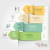 Biznesowy strzałkowaty infographics szablon Obrazy Stock