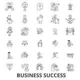 Biznesowy sukces, pojęcie, przyrost, pomyślny, osiągnięcie, korporacyjny, nagród kreskowe ikony Editable uderzenia Płaski projekt ilustracji