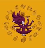 Biznesowy superwoman, mnóstwo ilustracji