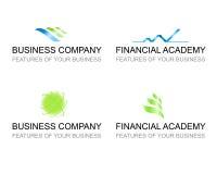 Biznesowy szablon ustawiający loga znaki ilustracji