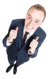 biznesowy szczęśliwy mężczyzna obraz stock