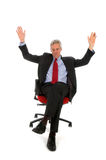 biznesowy szczęśliwy mężczyzna Fotografia Royalty Free