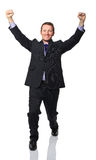 biznesowy szczęśliwy mężczyzna Obrazy Royalty Free