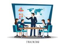 Biznesowy szkolenie z młodzi ludzie uczęszcza profesjonalisty royalty ilustracja