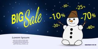 Biznesowy talon Duża zimy sprzedaż również zwrócić corel ilustracji wektora Obraz Royalty Free