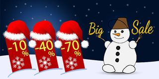 Biznesowy talon Duża zimy sprzedaż Wektorowa illustrationbig zimy sprzedaż również zwrócić corel ilustracji wektora Zdjęcia Stock