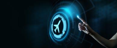 Biznesowy technologii podróży transportu pojęcie z samolotami zdjęcia royalty free