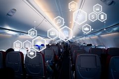 Biznesowy technologii pojęcie na samolocie Obrazy Royalty Free