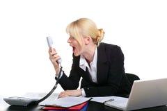 biznesowy telefon mówi kobiet potomstwa Fotografia Royalty Free