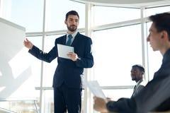 Biznesowy trenowanie przy konwersatorium fotografia royalty free