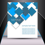 Biznesowy ulotka szablon lub korporacyjny sztandar royalty ilustracja