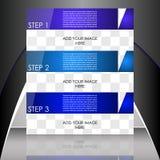 Biznesowy ulotka szablon lub korporacyjny sztandar Zdjęcia Stock