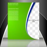 Biznesowy ulotka szablon lub korporacyjny sztandar ilustracji