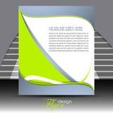 Biznesowy ulotka szablon lub korporacyjny sztandar ilustracja wektor