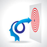 Biznesowy umysł i cel z strzała Fotografia Stock