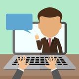 Biznesowy webinar konsultant royalty ilustracja