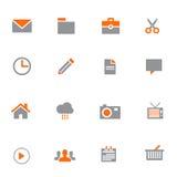 Biznesowy wektorowy ikona set Zdjęcia Stock