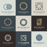 Biznesowy wektorowy loga set Zdjęcia Royalty Free
