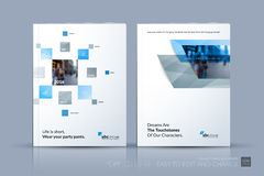 Biznesowy wektorowy szablon Broszurka układ, okładkowy nowożytny projekt a ilustracji