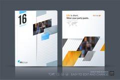 Biznesowy wektorowy szablon Broszurka układ, okładkowy nowożytny projekt a royalty ilustracja