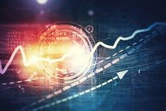 Biznesowy wirtualny panel Obraz Stock