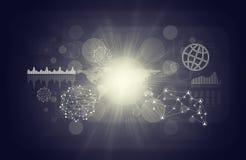 Biznesowy wirtualny tło z graficzną mapą Zdjęcia Stock