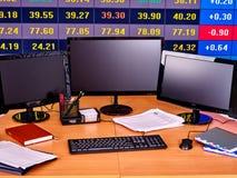 Biznesowy wnętrze z komputer osobisty klawiaturą i monitorem Obrazy Royalty Free