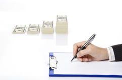 biznesowy writing Obrazy Stock