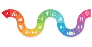 Biznesowy współpracy infographics ilustracja wektor