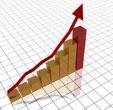 biznesowy wykres royalty ilustracja